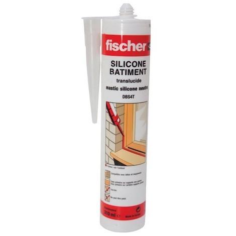 FISCHER - Mastic silicone DBS - translucide - 310 mL
