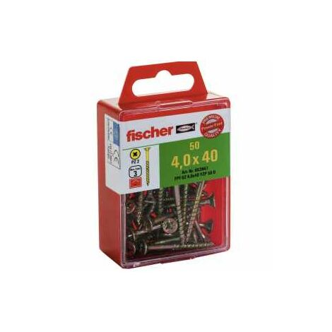 Fischer Power-Fast 4x40 Senkkopf Kreuzschlitz Pozidrive TG Stahl galvanisch verzinkt, gelb passiviert,