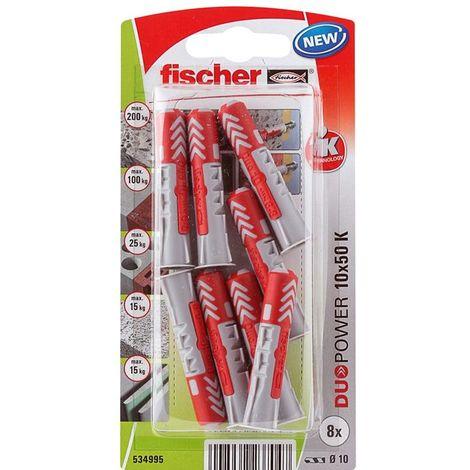 Fischer Universal Ankles Duopower 10 X 50 (8Pcs)
