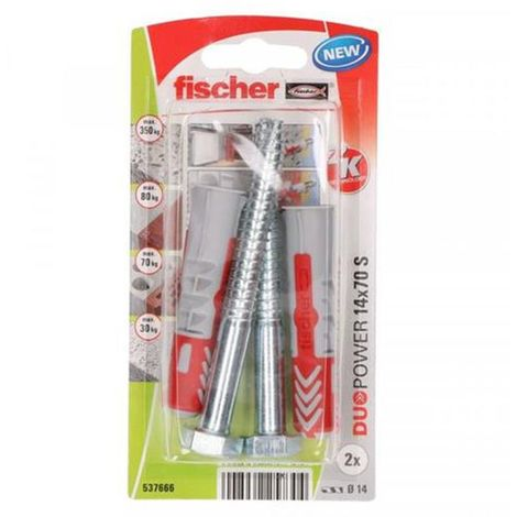 Fischer Universal Ankles Duopower 14X70 + 10X95 Screw (2 Pcs)