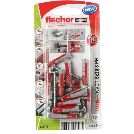 Fischer Universal Ankles Duopower 6X30 + 4.5X40 Screw (12Pcs)