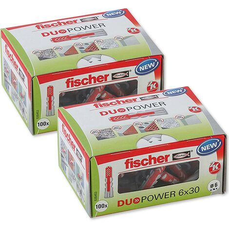 Fischer Universaldübel Duopower 6x30 LD in Faltschachtel, 2x 100 Stück