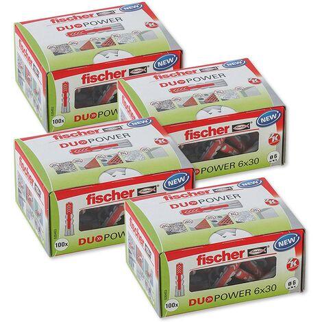 Fischer Universaldübel Duopower 6x30 LD in Faltschachtel, 4x 100 Stück