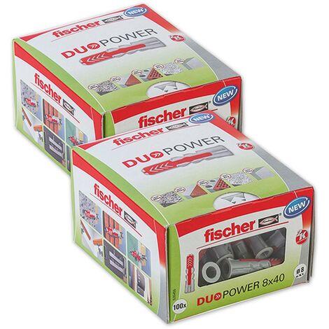 Fischer Universaldübel Duopower 8x40 LD in Faltschachtel, 2x 100 Stück