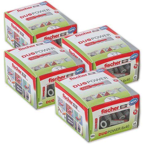 Fischer Universaldübel Duopower 8x40 LD in Faltschachtel, 4x 100 Stück