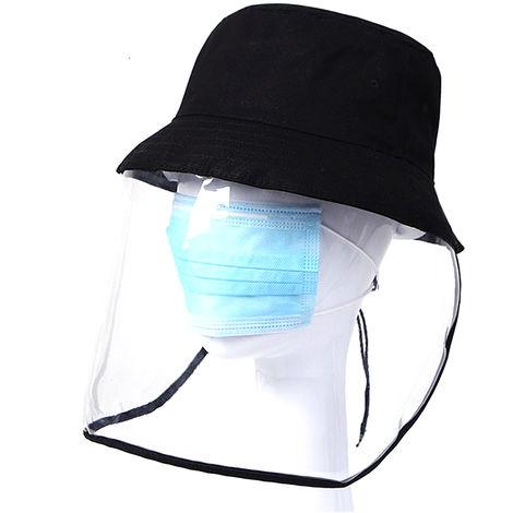 Fischerschutzhut mit transparenter Maske, Einheitsgr??e schwarz