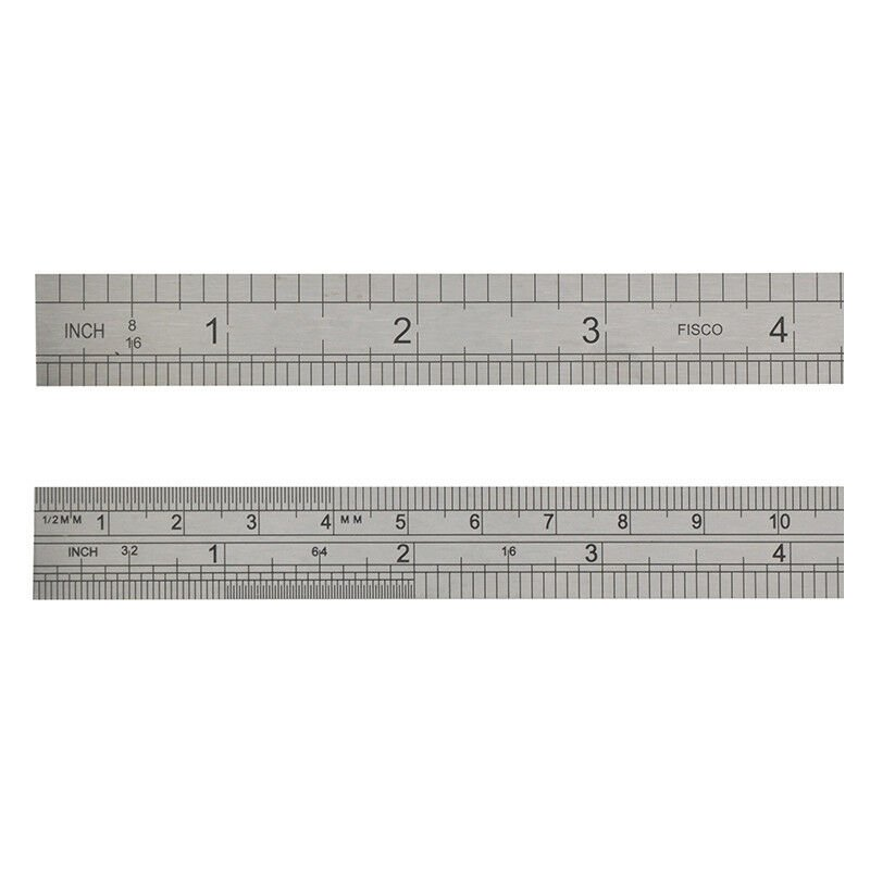 Image of Fisco FSC712S 712S Stainless Steel Rule 300mm / 12in