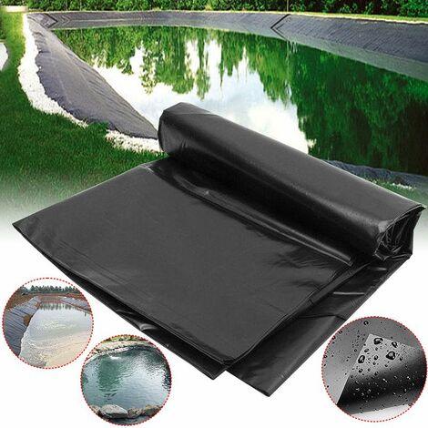 Fish Pond Liner Gardens Swimming Pools PVC Reinforced membrane Landscaping Double Lay Pond Liner Waterproof membrane Waterproof film 5.0m X 3.0m (black, 5x3m)