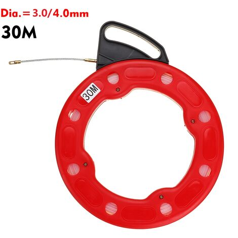 Fish Tape Reel Puller Conduit Ducting Rodder Wire Cable Rope Grip Threader Cable Wire Connector 30M