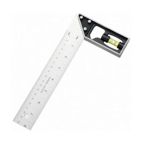 """Fisher F26ME8 Try and Mitre Square with Plastic Stock 8"""" 200mm"""