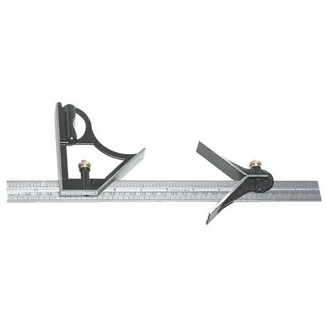 """Fisher FB225ME Combination Square 12"""" 300mm with Centre Finder"""