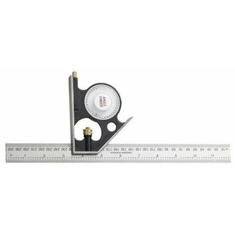 Fisher FB295M Combination Square Plus with Angle Finder 300mm
