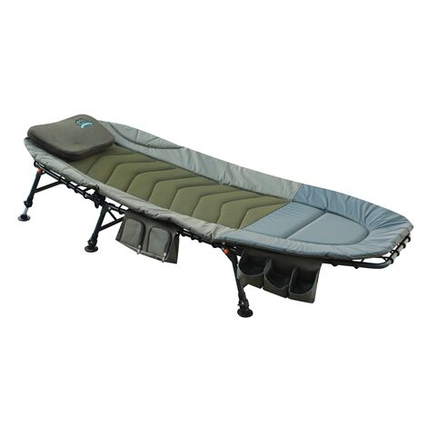 Fishing Bed with Side Tool Bag Dark Green FB-008