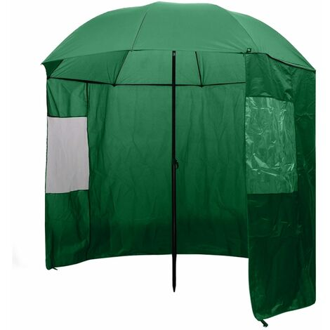 Fishing Umbrella Brolly Shelter Tent Angler Waterproof Side Top Protect 2 Sizes
