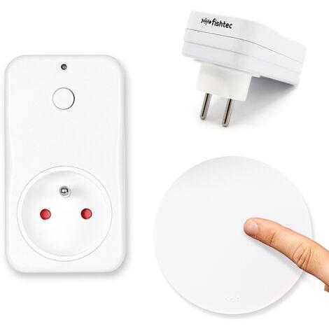 FISHTEC® Prise Commandée par Interrupteur - Sans Fil ni Pile - Portée 70m