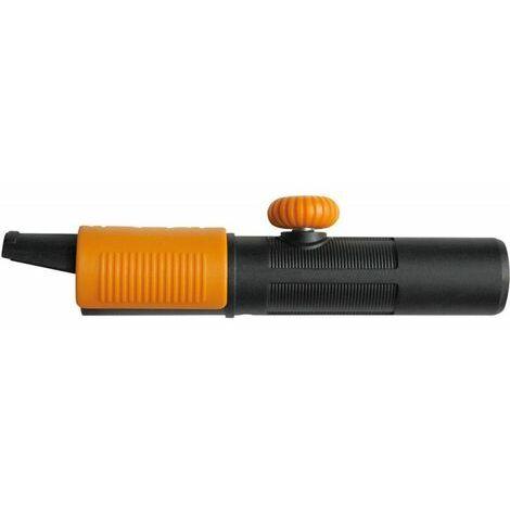 Fiskars Adaptador universal para el uso de los mangos Fiskars QuikFit con cabezales de herramientas de otros fabricantes, Longitud: 17 cm, Plástico reforzado con fibra de vidrio, Negro/Naranja, QuikFit, 1000617