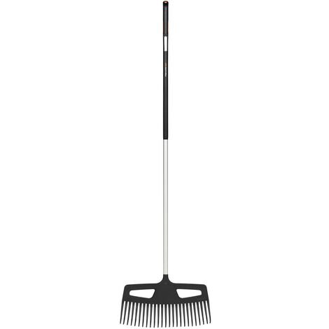 Fiskars Balai à feuilles L, largeur 54 cm, manche en aluminium renforcé, poignée SoftGrip™, Xact™, 1027037