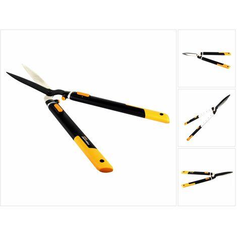 Fiskars Cisaille à haies télescopique SmartFit HS86 ( 1013565 ) pour haies et arbustes de 68-93 cm