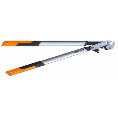 FISKARS - Coupe-branches Powergear X - L à crémaillère et à enclume 80 cm - ø 55 mm