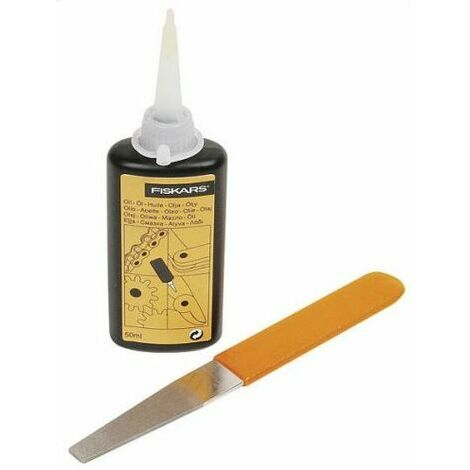 Fiskars Kit de mantenimiento, Para herramientas de corte de jardín, Con lima de diamante, Aceite e instrucciones de uso, 1001640