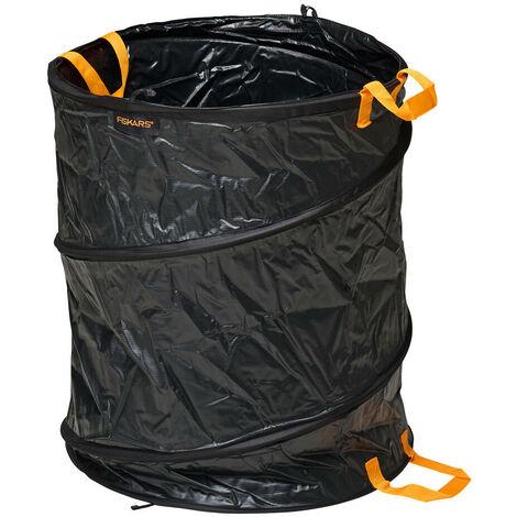 Fiskars Sac à végétaux, Capacité: 172 litres, Noir/Orange, Solid, 1015647