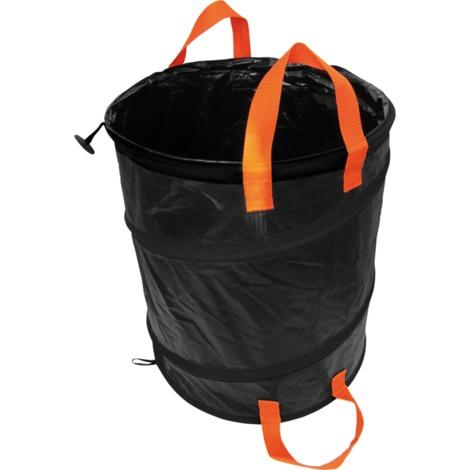 Fiskars Solid PopUp-Gartensack, 56 Liter, Sack, schwarz/orange