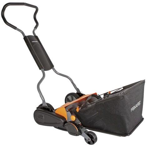 Fiskars StaySharp Max - Tondeuse à gazon - incl. bac de ramassage - 46cm