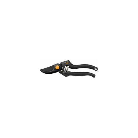 Fiskars Tijeras de podar con cuchilla bypass, Diámetro de corte: 2,6 cm, Cuchillas de acero de alta calidad con cubierta antiadherente, Longitud: 22,5 cm, Negro/Naranja, Pro, P90, 1001530