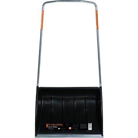 Fiskars Traîneau à neige, Largeur: 74 cm, Tête en plastique/Manche en aluminium, Noir/Orange, SnowXpert, 1003470