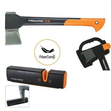 Fiskars X11 122443 Splitting Axe Anti Shock FSK122443 Sharpening Tool FSK120740