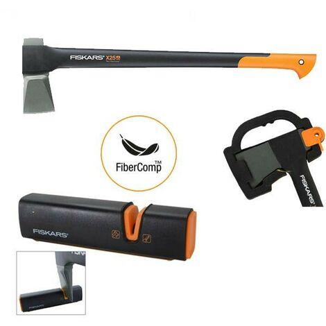 Fiskars X25 122483 Splitting Axe Anti Shock FSK122480 Sharpening Tool FSK120740