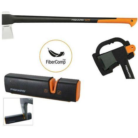 Fiskars X27 122503 Splitting Axe Anti Shock FSK122503 Sharpening Tool FSK120740