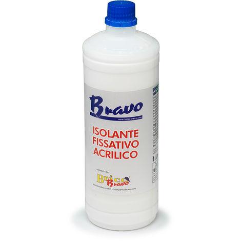 Fissativo isolante acrilico 1lt per idropitture pitture al quarzo intonaco 0799