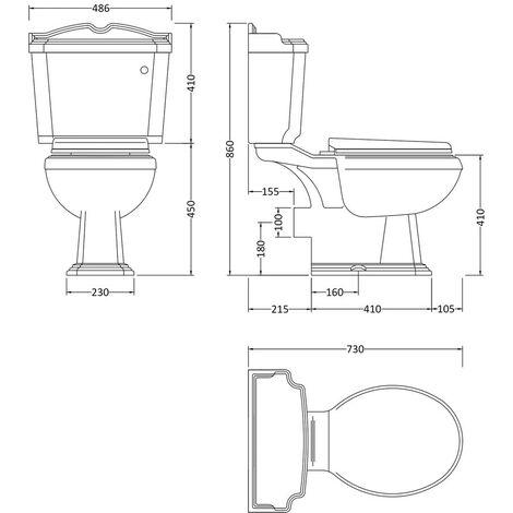 Fitzwilliam Toilet & Basin Bathroom Suite - 2 Tap Hole