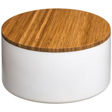 Five - Boîte de rangement + couvercle miroir blanc