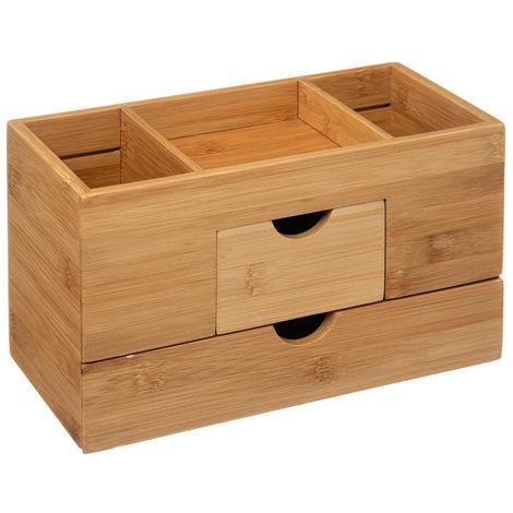 Five - Organiseur 2 tiroirs Rangement salle de bain en Bambou collection Naturéo