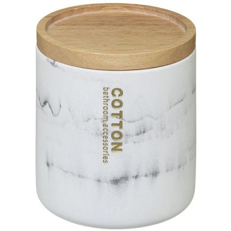 Five - Pot à coton en Bambou et polyrésine LEA