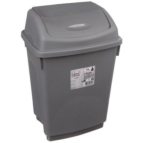 Five - Poubelle à bascule 10L grise