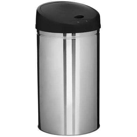 Five - Poubelle ronde en Inox 42 litres Sensor ouverture et fermeture automatique