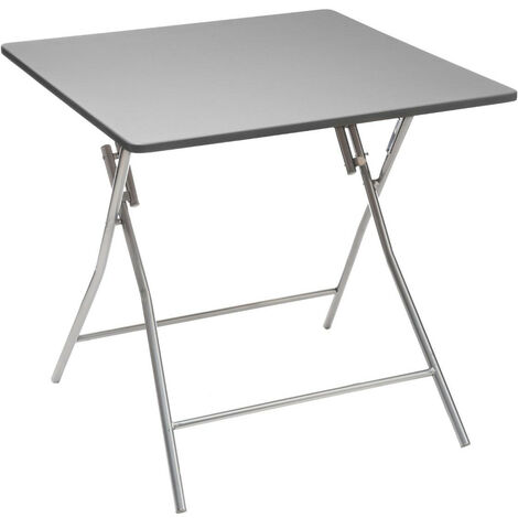 """main image of """"Five - Table d'Appoint pliante Grise 80 x 80 cm"""""""
