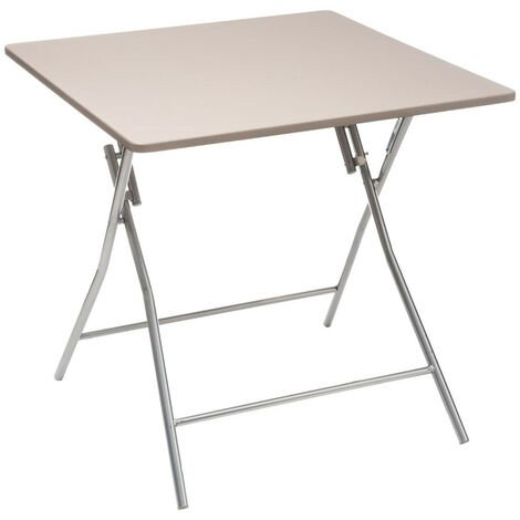 """main image of """"Five - Table d'Appoint pliante Taupe 80 x 80 cm"""""""