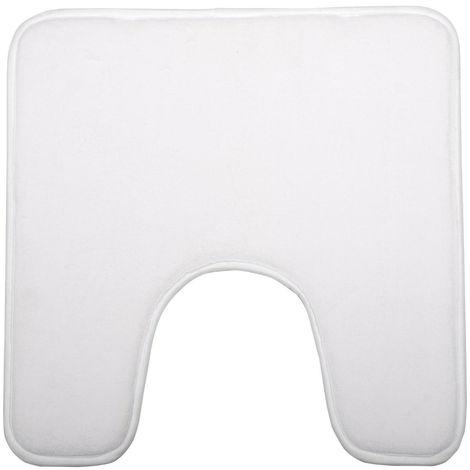 Five - Tapis contour WC mémoire de forme blanc 48X48