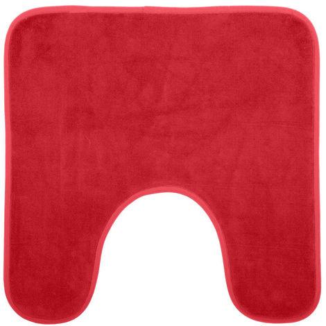 Five - Tapis contour WC mémoire de forme coquelicot 48X48