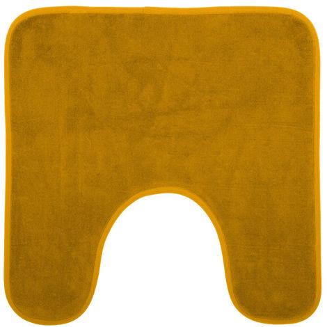 Five - Tapis contour WC mémoire de forme jaune 48X48