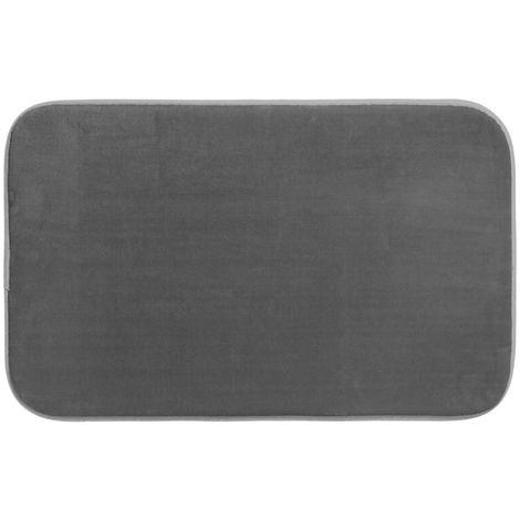 Five - Tapis de bain mémoire de forme gris 80X50