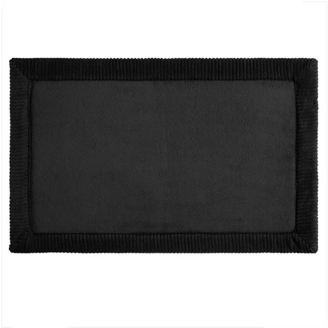 Five - Tapis de salle de bain Noir à mémoire de forme 80 x 50 cm