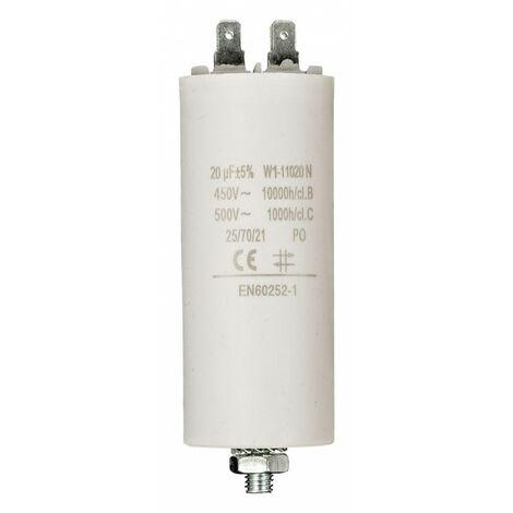 FIXAPART Condensateur 20.0uf / 450 v à Cosses Condo 20mf