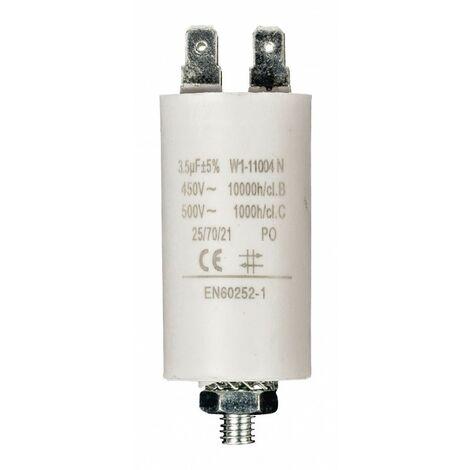 FIXAPART Condensateur 3.5 mf Cosse Micro Farad 450v 3.5 uF Moteur