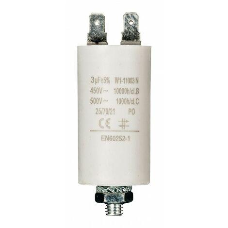 FIXAPART Condensateur 3mf 3 mf Cosse Micro Farad 450v 50/60 hz Condo Démarrage Moteur