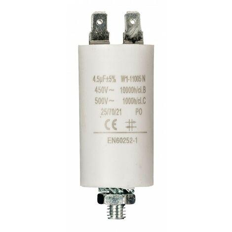 FIXAPART Condensateur 4.5uf / 450 v + Cosses Condo 4,5mf